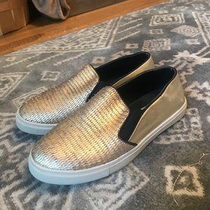 Gold Steve Madden Sneakers